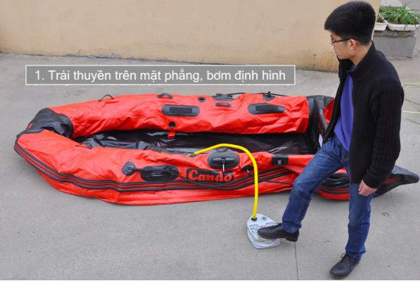 Lắp ráp thuyền bơm hơi